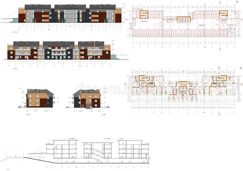 Project van het het leven huis royalty-vrije illustratie