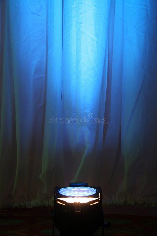Projecteur bleu image stock