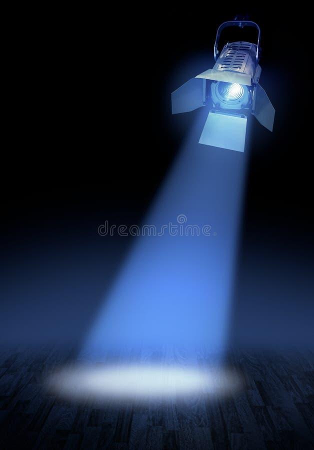 Projecteur d'étape sur l'étage photo libre de droits