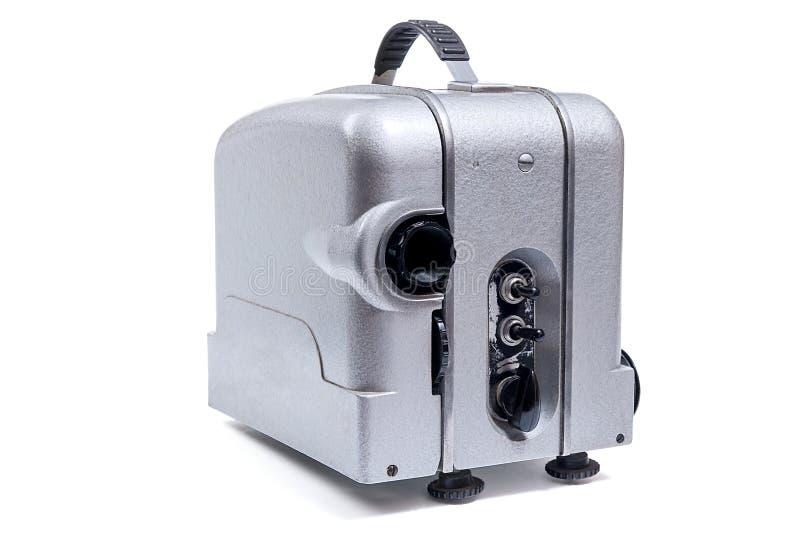 Projecteur de film de cinéma de vintage d'isolement sur un backgr blanc photos stock