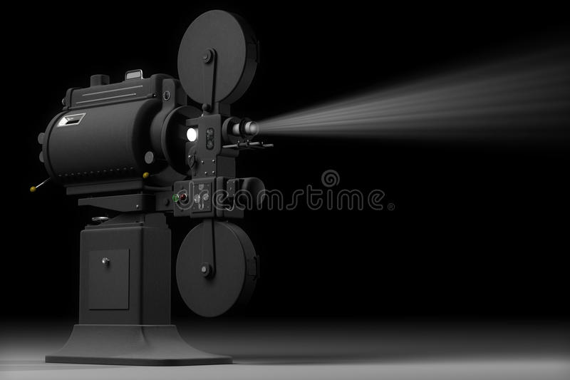 Projecteur de film industriel illustration libre de droits