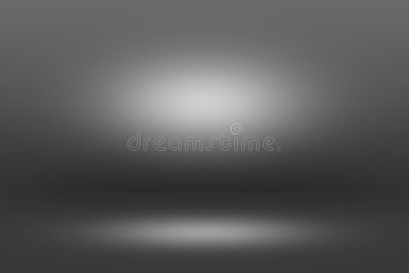 Projecteur de Showscase de produit sur le fond noir - plancher clair d'obscurité d'horizon infini photographie stock libre de droits