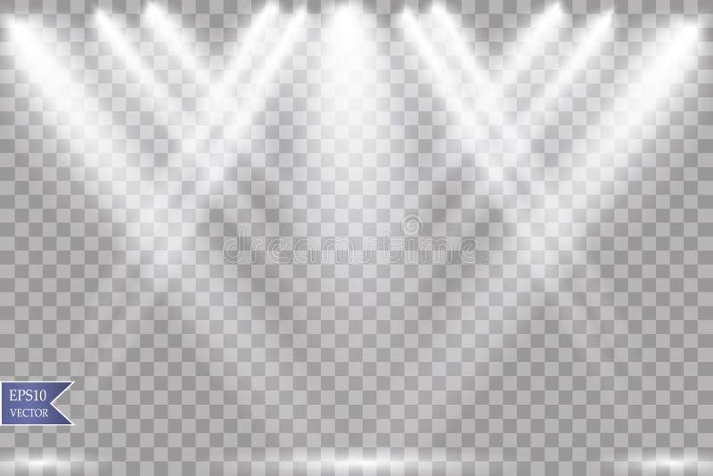 Projecteur de vecteur Effet de la lumière photos stock