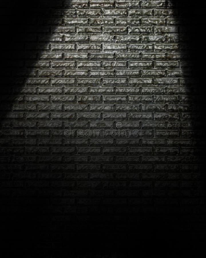 Projecteur sur le mur illustration libre de droits