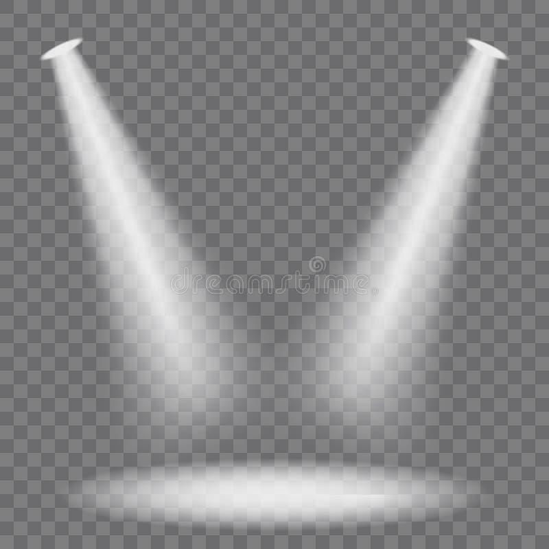 Projecteurs d'?tape r?gl?s illustration libre de droits
