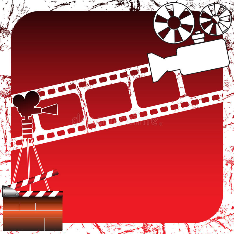 Projecteurs de film illustration stock
