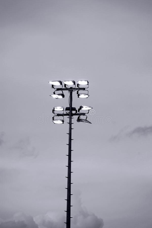 Projecteurs de stade photo libre de droits