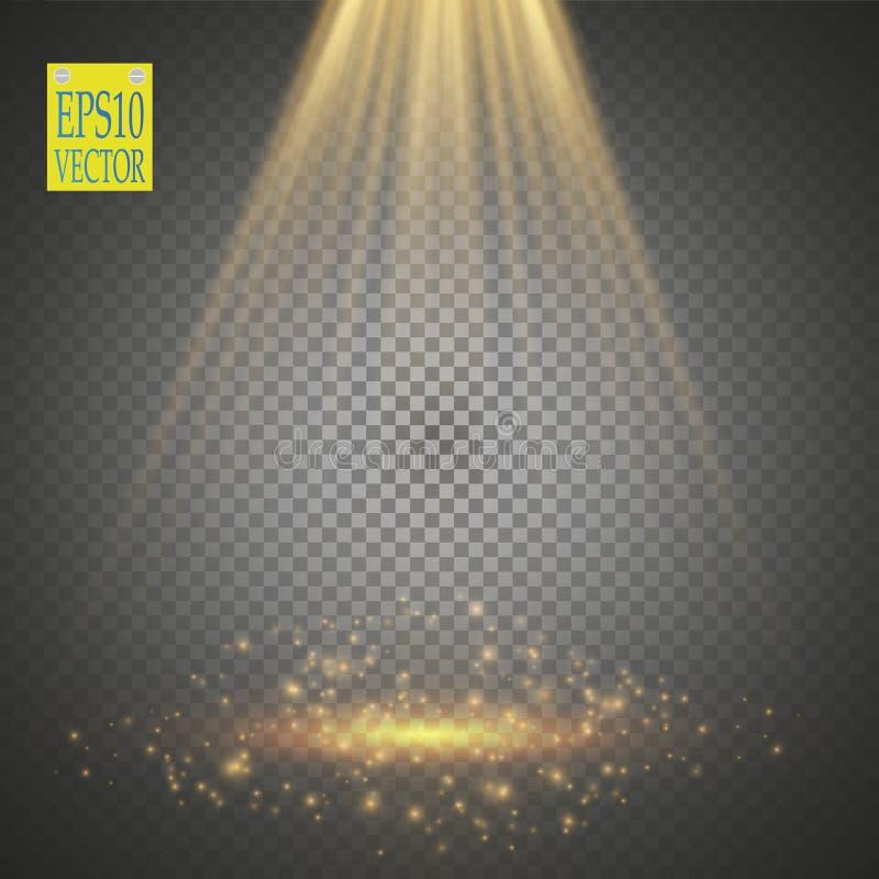 Projecteurs de vecteur scène Effets de la lumière illustration de vecteur