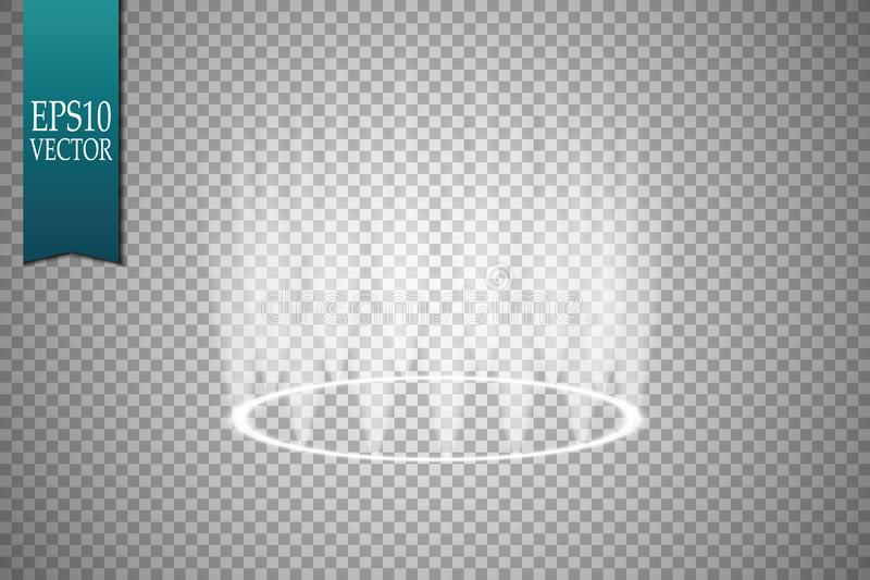 Projecteurs de vecteur scène Podium d'effets de la lumière lumière illustration libre de droits
