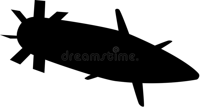 projectile illustration stock