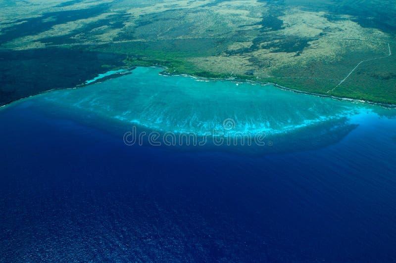 Projectile aérien de grande île - plage photographie stock