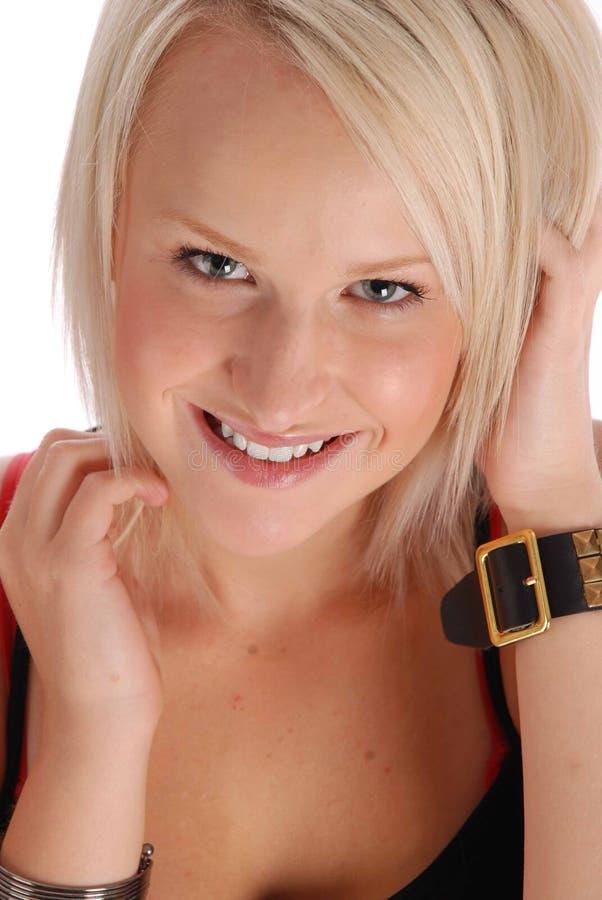 Projectile blond de beauté image stock