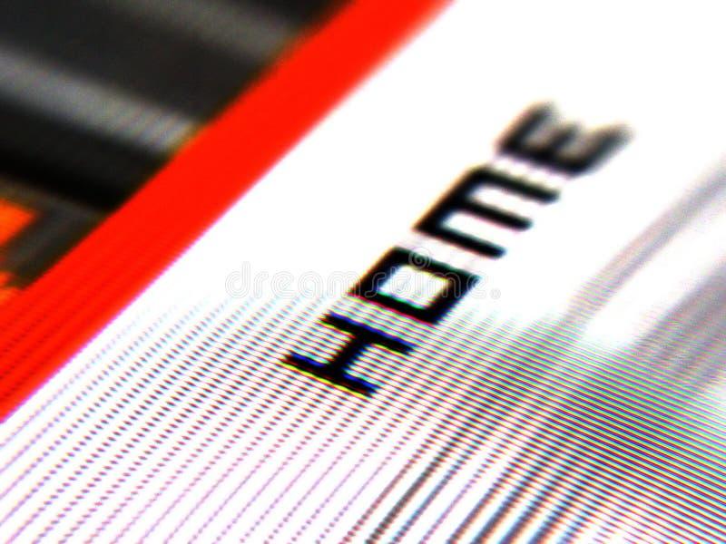 Projectile d'écran à la maison image stock