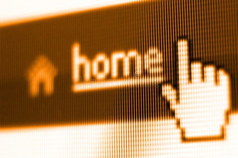 Projectile d'écran à la maison photographie stock