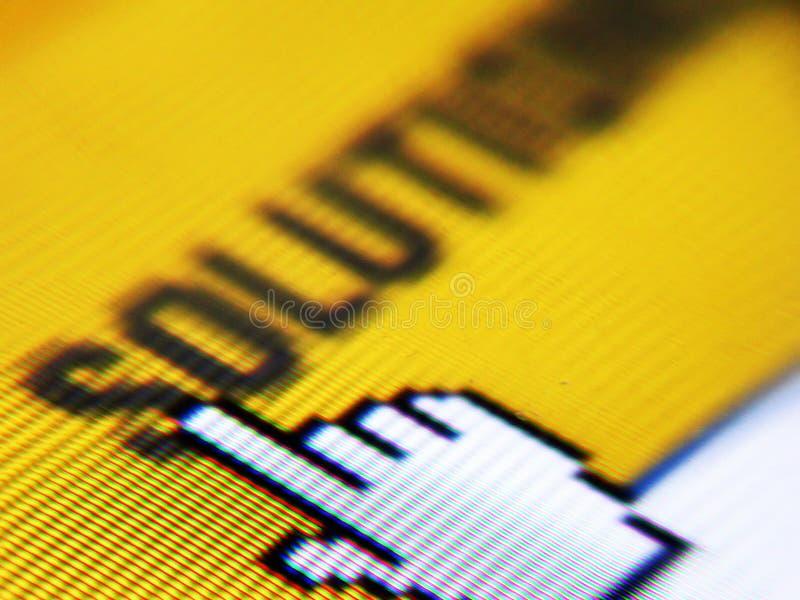 Projectile d'écran photos libres de droits