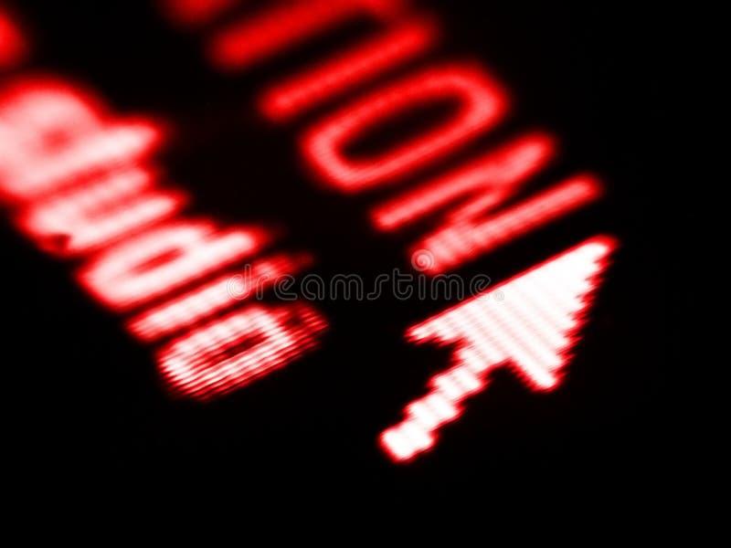Projectile D écran Image libre de droits