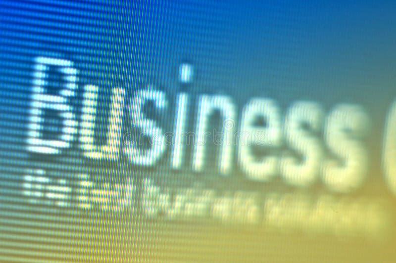 Projectile d'écran d'affaires images stock