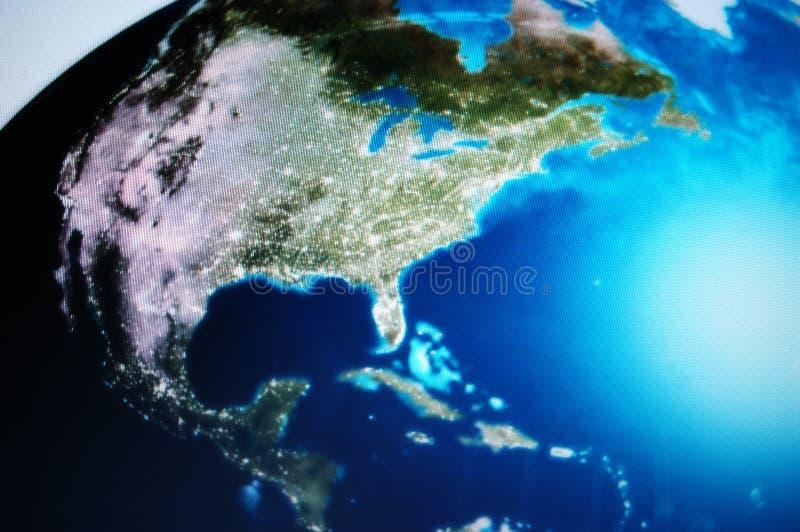 Projectile d'écran du monde photographie stock
