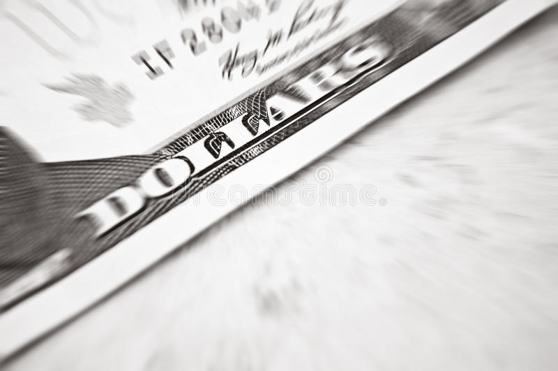 Projectile d'instruction-macro du dollar photos stock