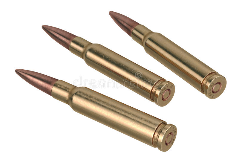 Projectile de fusil de balle photo libre de droits
