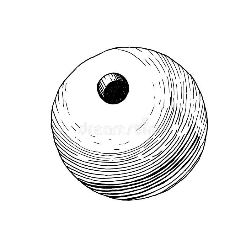 Projectile de vintage pour le canon de bombe illustration de vecteur
