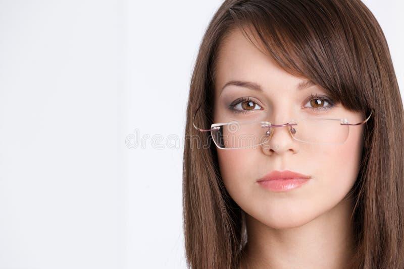 Projectile principal de femme d'affaires en glaces image stock