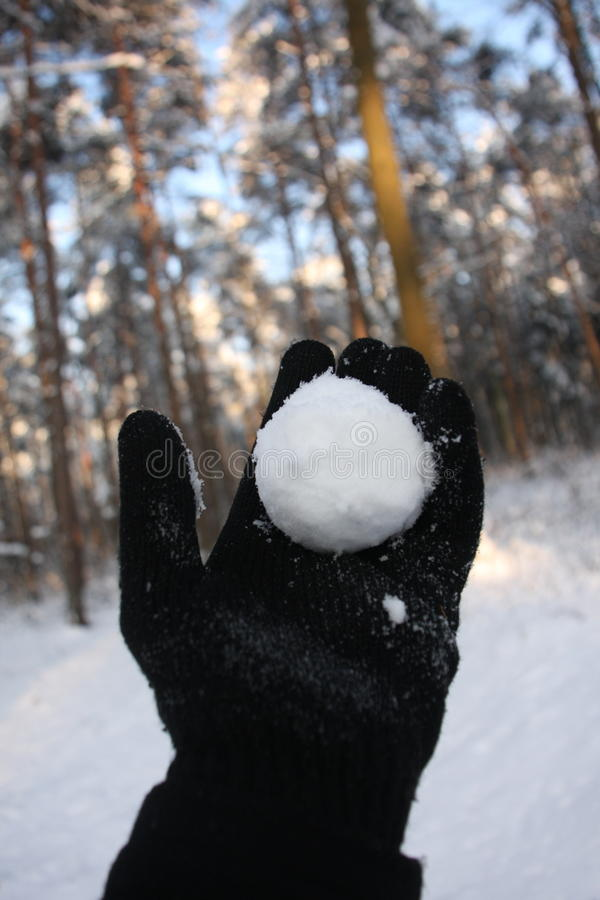 Projection de boule de neige photos libres de droits