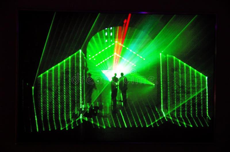Projection olographe dans Kunsthalle Budapest image stock