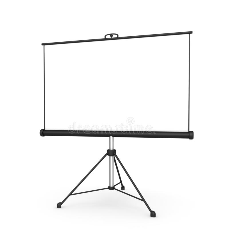 Free Projection Screen Concept 3d Illustration Stock Photography - 138779122