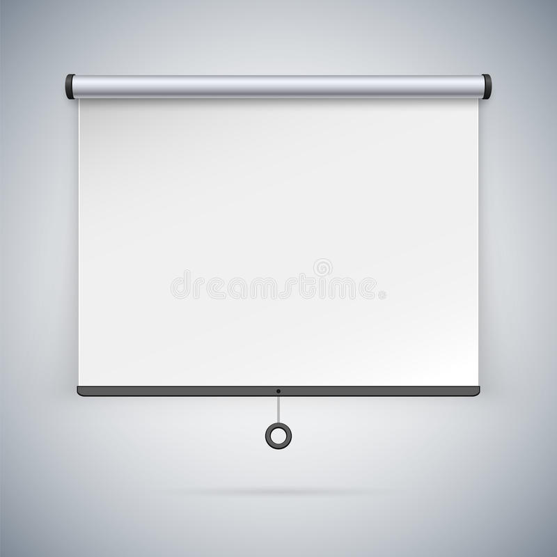 Free Projection Screen To Showcase Your Projects Stock Images - 58356054