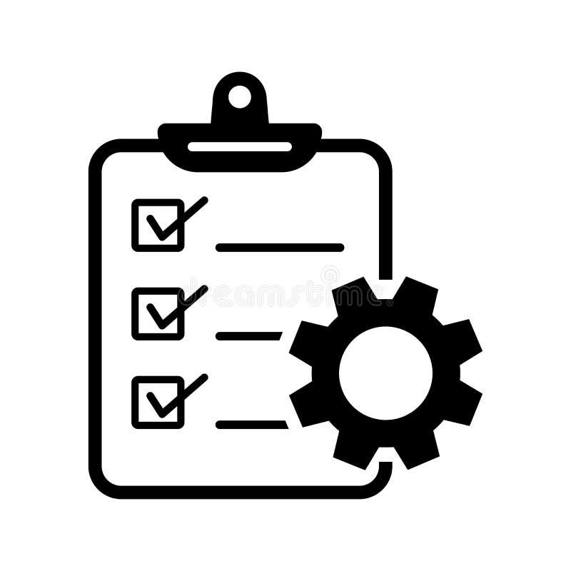 Projectleidingspictogram Vector illustratie stock illustratie