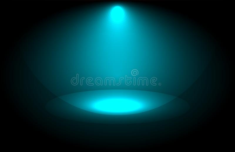 Projector beautiful lighting . wide lens equipment for show presentation at night . smoke abstract background . Projector beautiful lighting . wide lens stock illustration