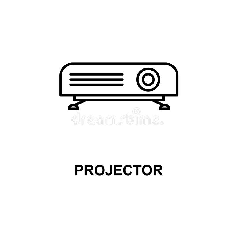 Projector icon. Element of cinema for mobile concept and web apps. Thin line projector icon can be used for web and mobile. Premiu. M icon on white background stock illustration