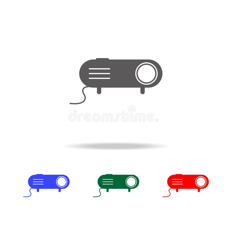 Projector icon. Elements of cinema and filmography multi colored icons. Premium quality graphic design icon. Simple icon for websi. Tes, web design, mobile app royalty free illustration