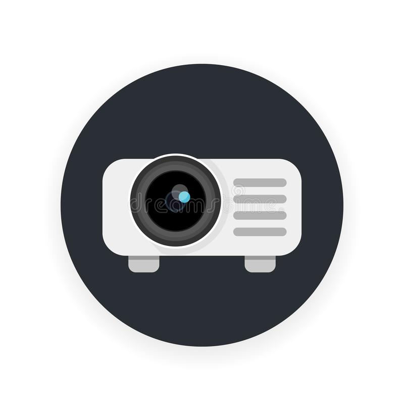 Projector icon in flat style royalty free illustration