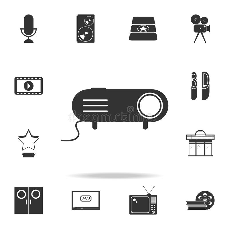 Projector icon. Set of cinema element icons. Premium quality graphic design. Signs and symbols collection icon for websites, web. Design, mobile app on white vector illustration