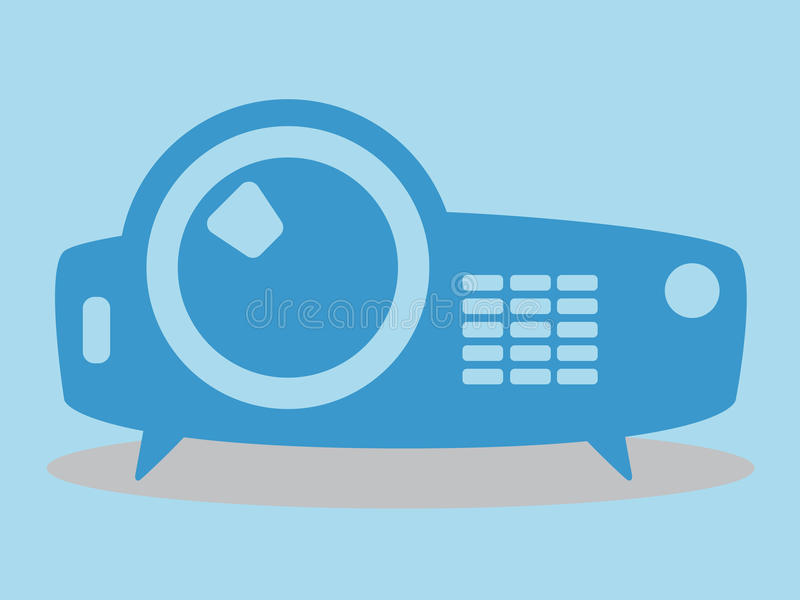 Projector icon, vector illustration, minimal design. Flat stock illustration