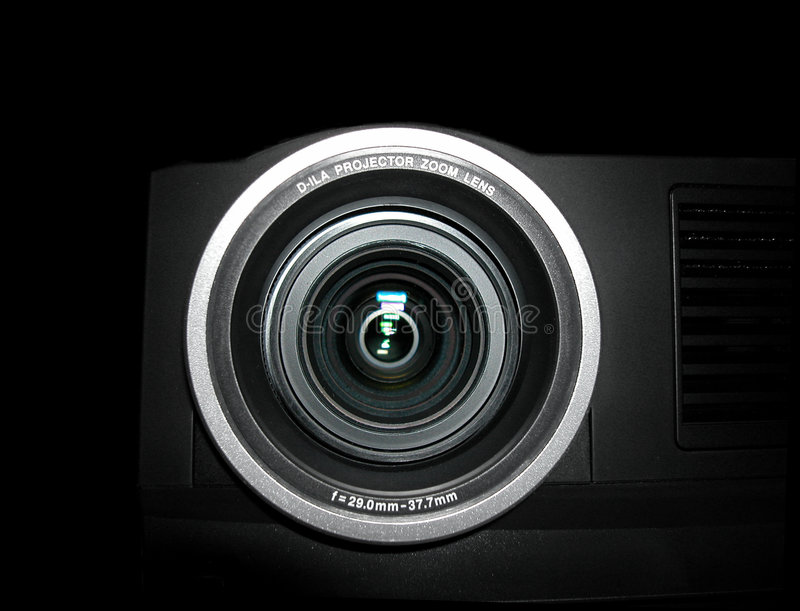 Projector lens - close up royalty free stock photos
