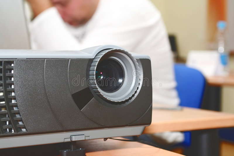 Download Projector At Office Table (horizontal) Stock Photo - Image of blank, boardroom: 7760200