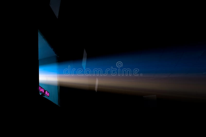 Projector ray in cinema royalty free stock photos
