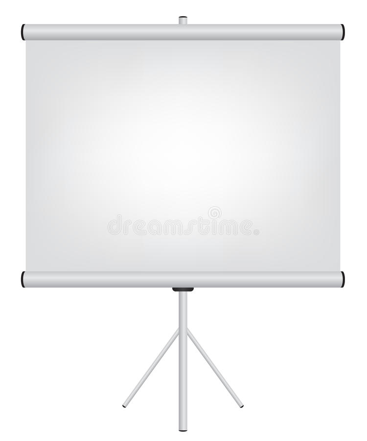 Projector screen illustration. On white background royalty free illustration