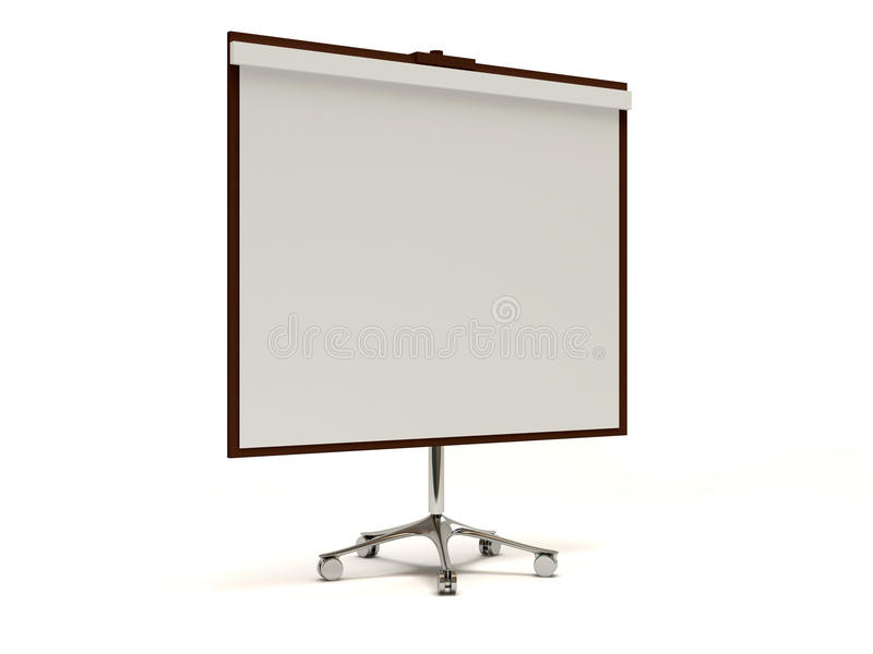 Projector Screen on white background