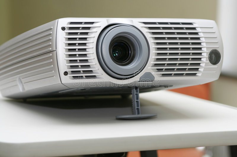 Download Projector On Stand Ready For Presentation At Office Stock Image - Image: 1942415