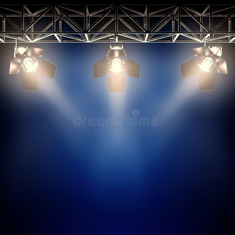 Projectores de bastidores. ilustração royalty free