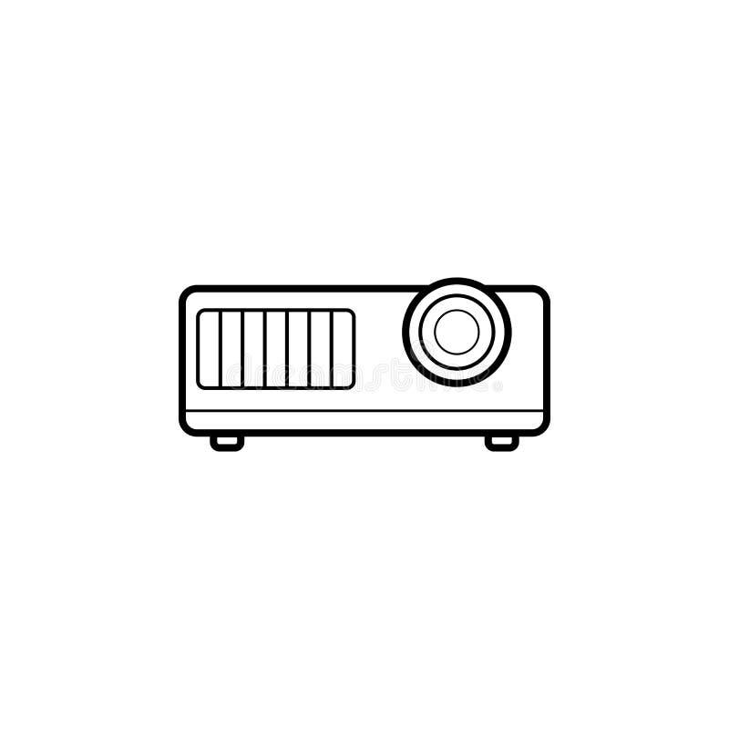 Projectorpictogram Element van huistoestellen voor mobiel concept en Web apps Dun lijnpictogram voor websiteontwerp en ontwikkeli stock illustratie