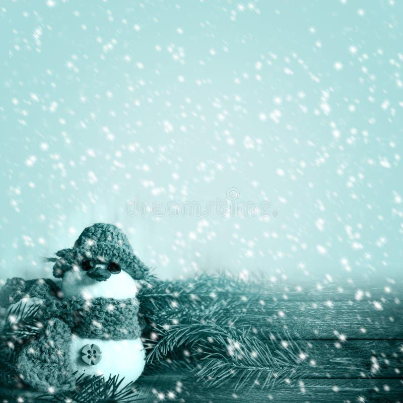 Projectsspa заморозка снега снеговика зимы графиков предпосылки зимы стоковые фотографии rf