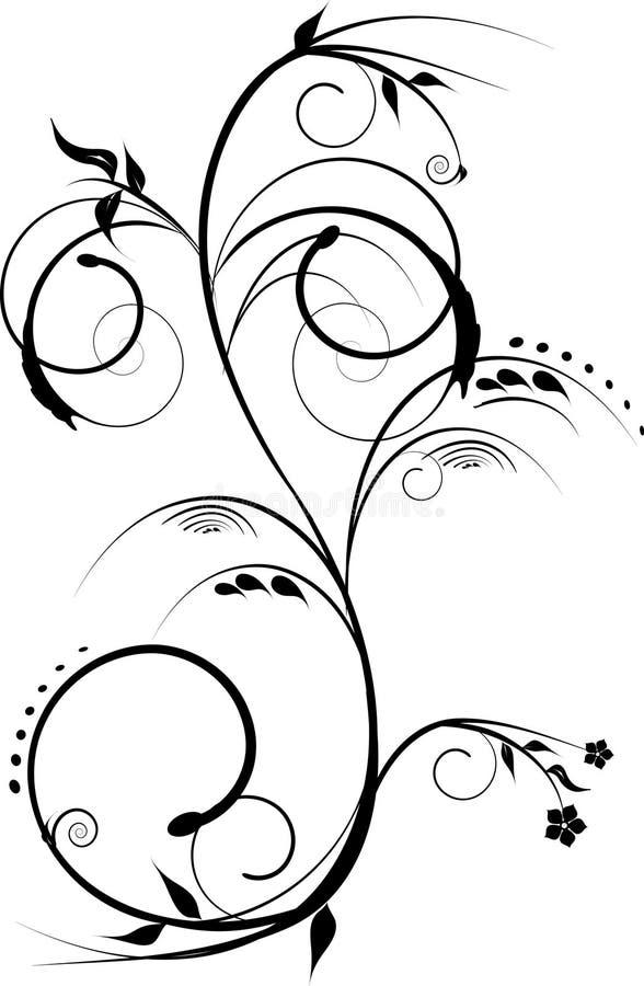Download Projektów czarny kwiaty ilustracja wektor. Ilustracja złożonej z kwiat - 13326332