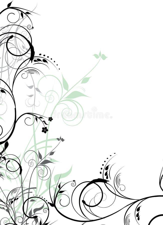 Download Projektów czarny kwiaty ilustracja wektor. Ilustracja złożonej z dekoracyjny - 13326400