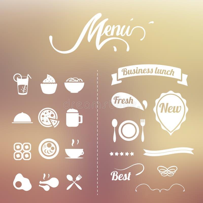 Projektów elementów menu ilustracja wektor