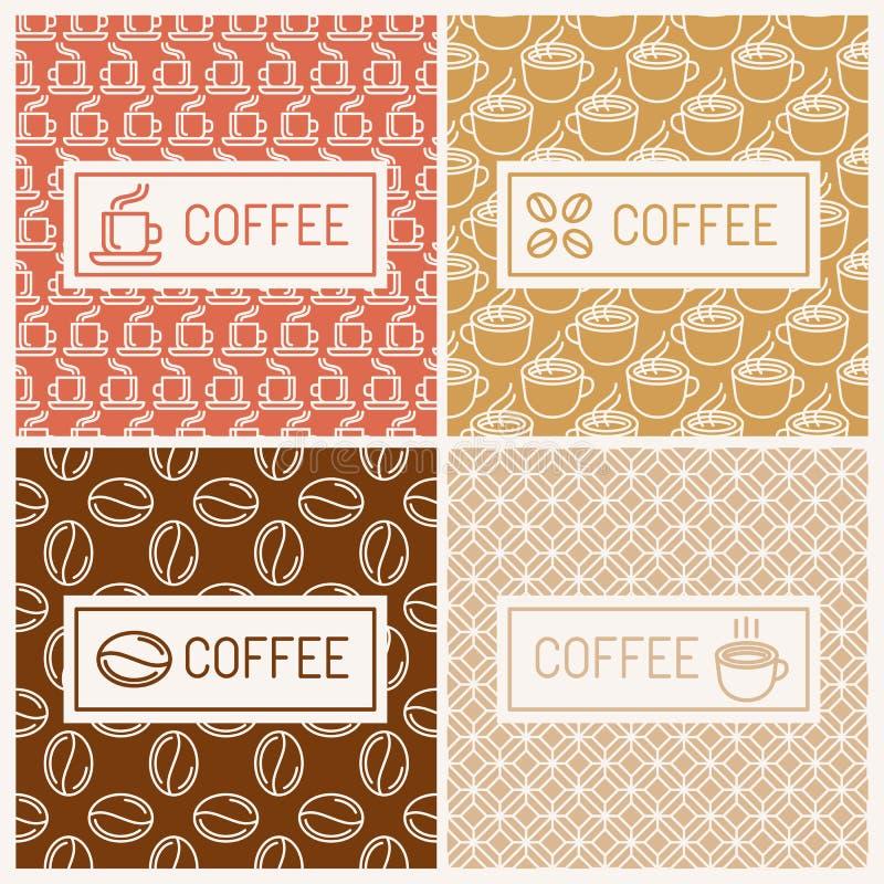 Projektów elementy dla kawowych domów ilustracji